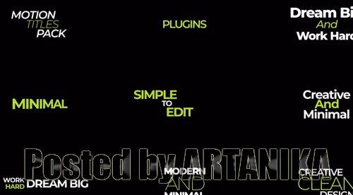 Motion Titles Pack V1 209361