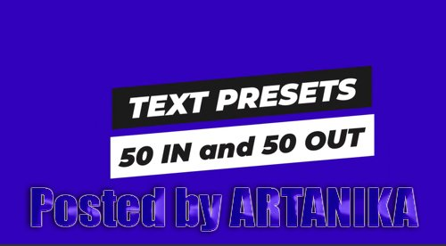 Text Animation Presets Pack 2 205267