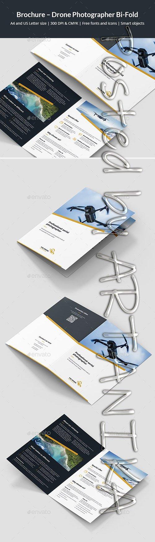 Brochure Drone Photographer Bi-Fold 24257322