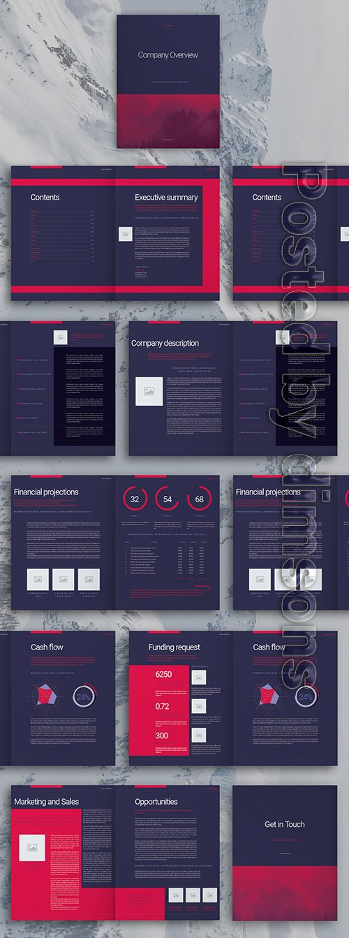 Purple Business Brochure Layout 307198483 INDT