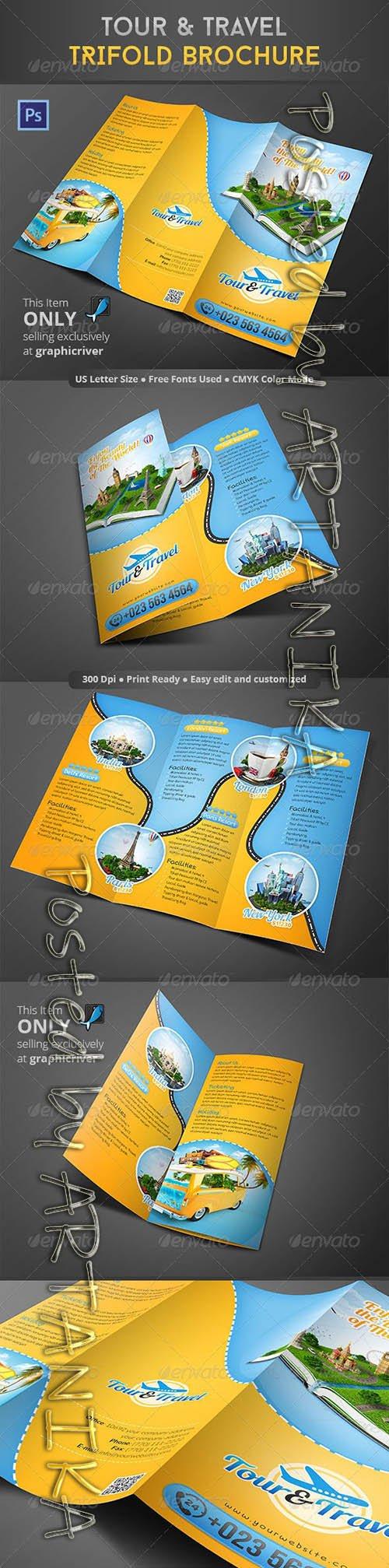 Tour & Travel Trifold Brochure 8610213