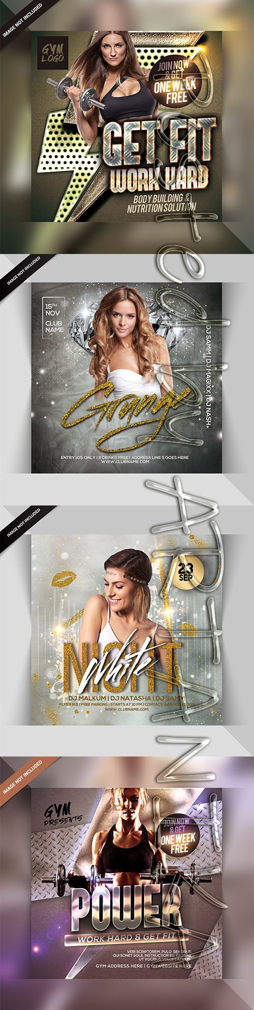 Mix Flyer Templates Pack