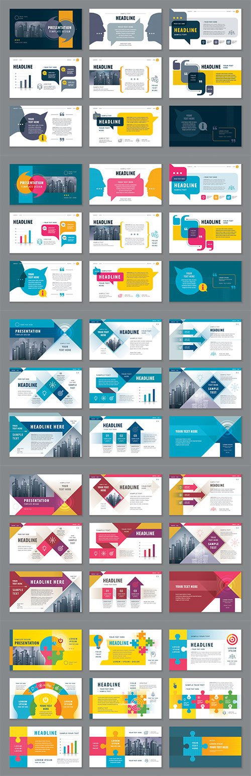 Abstract presentation templates, infographic elements template design