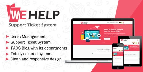 CodeCanyon - WeHelp v3.5 - Ticket Support System - 22686943