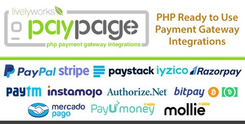 CodeCanyon - PayPage v1.3.0 - PHP ready to use Payment Gateway Integrations - 24695122