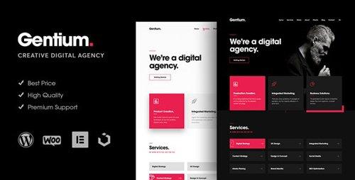 ThemeForest - Gentium v1.1.2 - A Creative Digital Agency WordPress Theme - 23271327