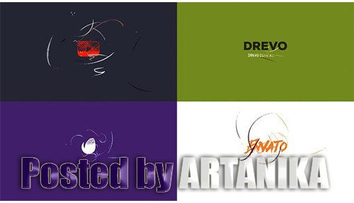 Simple Art Logo Reveal/ Flat Minimal Intro/ Brush Animation/ Clean Drawing Openers/ Youtube Blogger 21964425