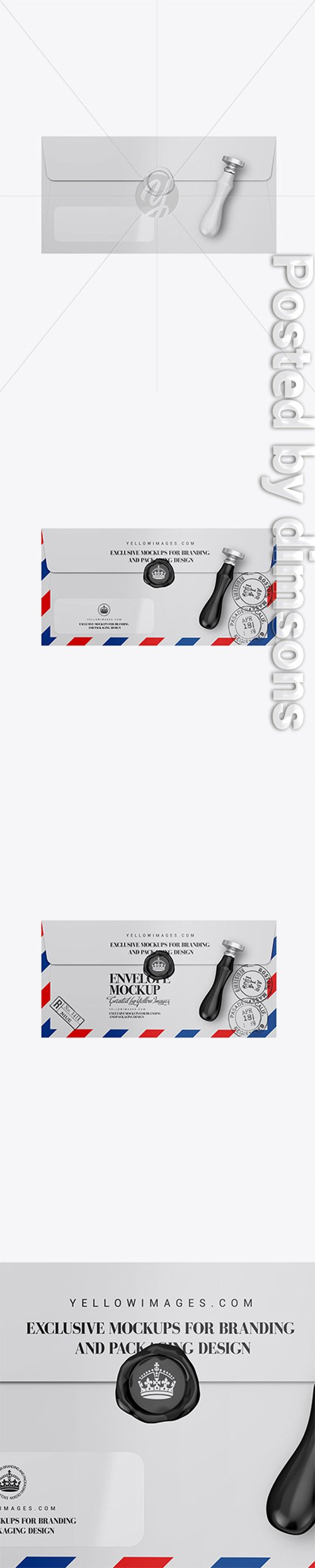 Matte Paper Envelope Mockup 33795 TIF