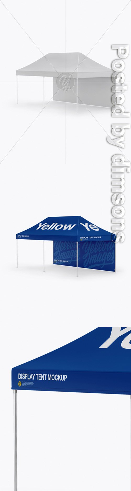 Display Tent W/ One Wall Mockup - Half Side View 30413 TIF