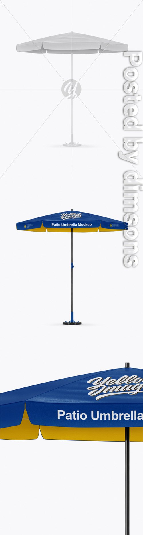 Glossy Patio Umbrella Mockup - Front View 30585 TIF