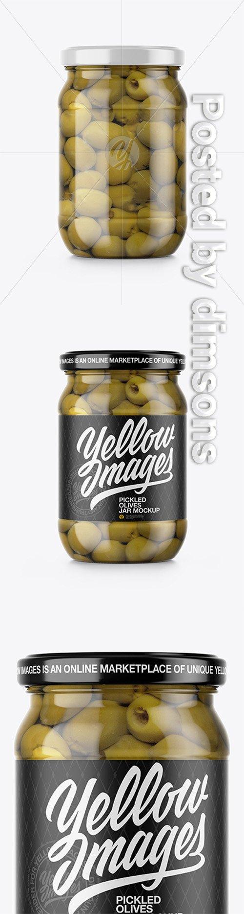 Olives Jar Mockup 36847 TIF