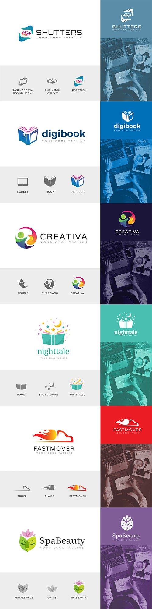 6 Logo Vector Templates