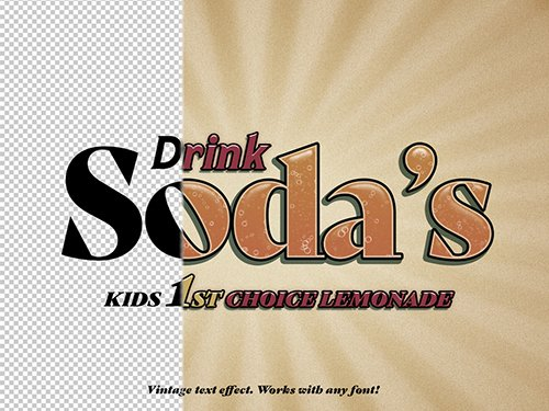 Retro Soda Pop Text Effect 307499047 PSDT