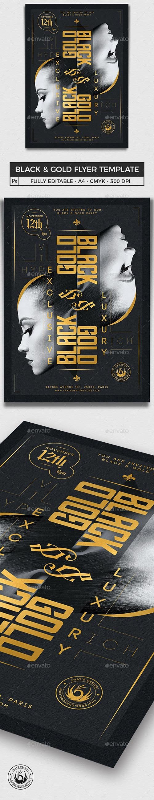 Black and Gold Flyer Template V17 25231950