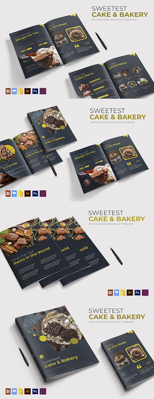 Sweetest Cake & Bakery | Brochure Template