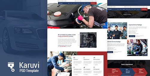 Karuvi | Automobile Mechanic PSD Template 23087496