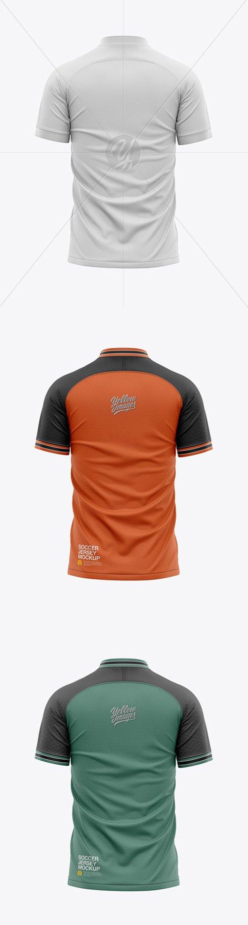 Mens Soccer Raglan Jersey Mockup - Back View 49718