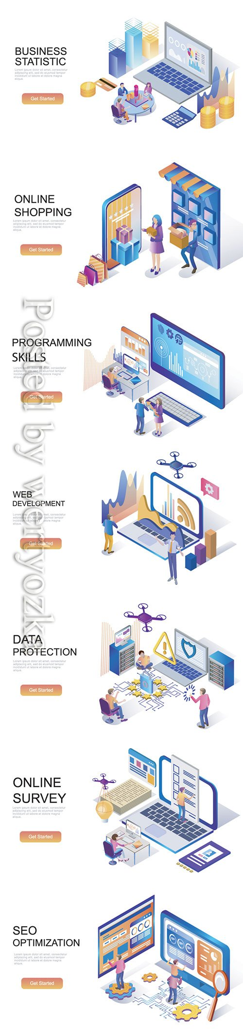 Flat isometric vector 3D concept illustration # 97