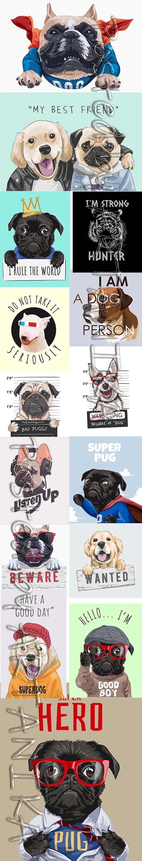 My Best Friend Super Dog Illustrations Pack