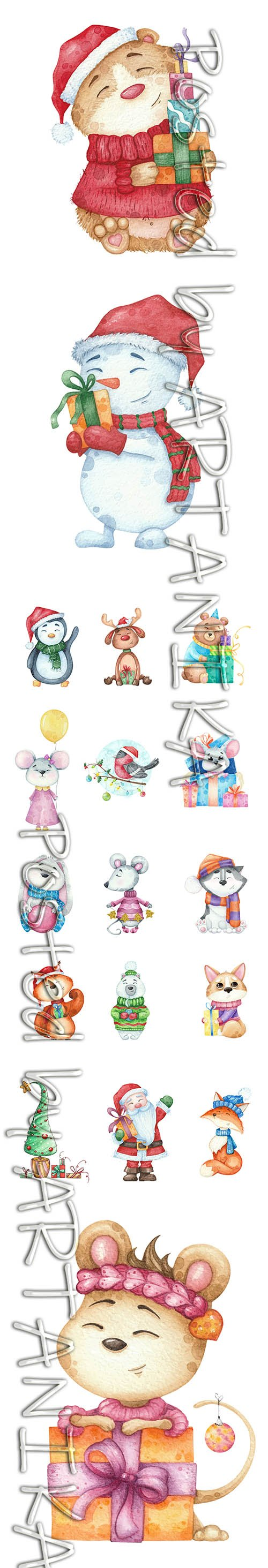 Cute Watercolor Animals Collections