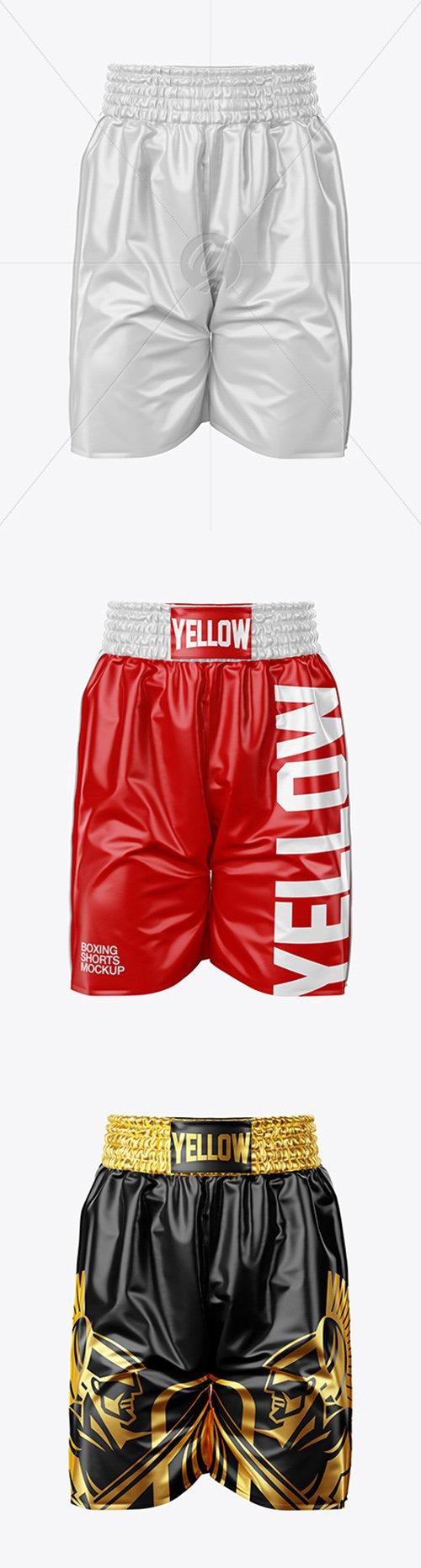 Boxing Shorts Mockup - Front View 49215
