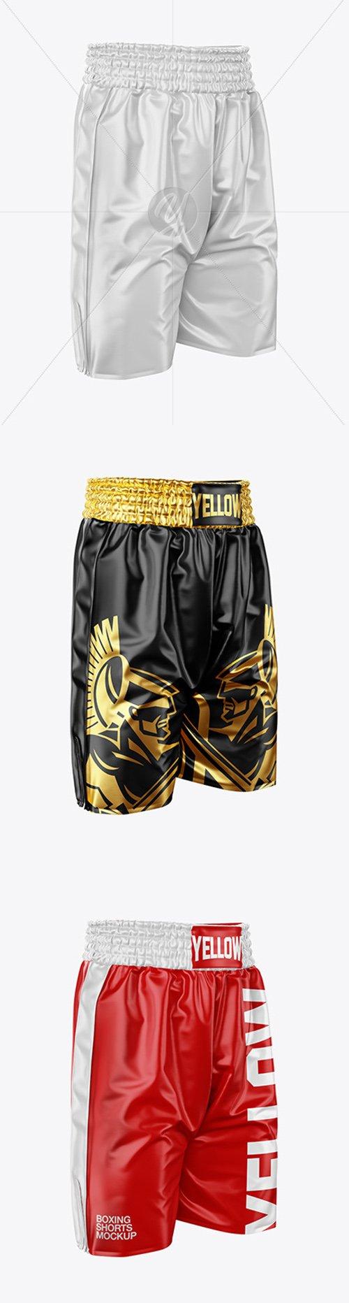 Boxing Shorts Mockup - Half Side View 49720