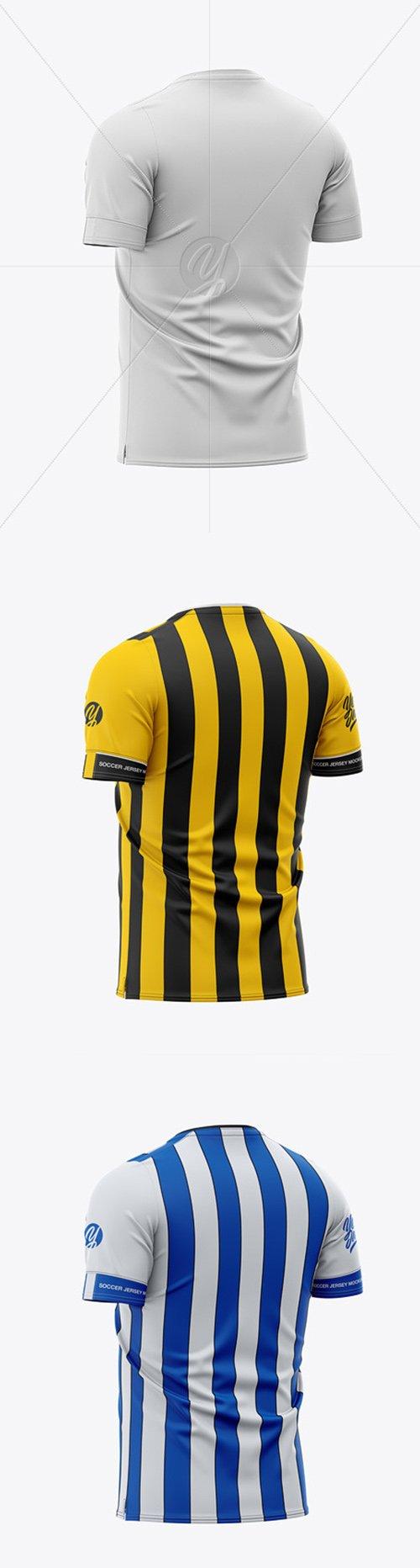 Mens Soccer Jersey Mockup - Back Half-Side View 49247