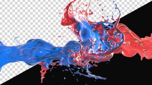 Videohive - Liquid Collision - 24999805