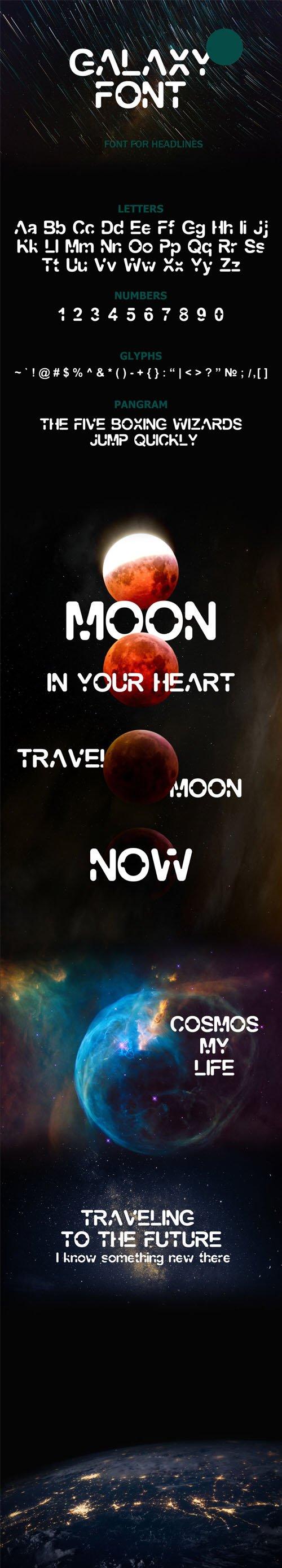 Galaxy - Futuristic Headline Font