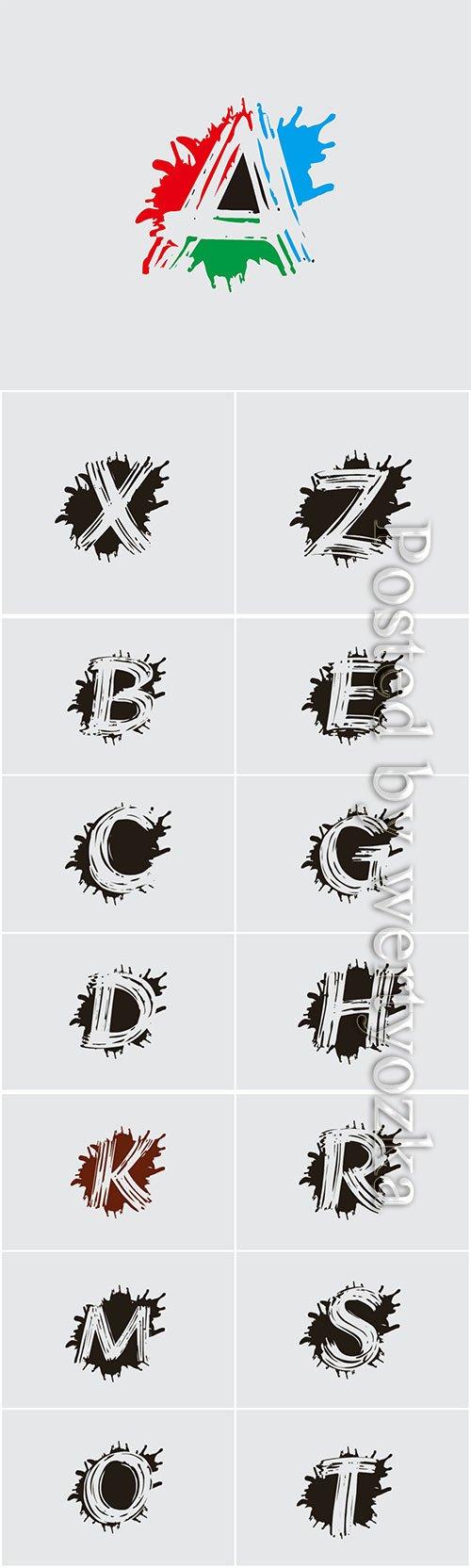 Letter logo icon splash vector design