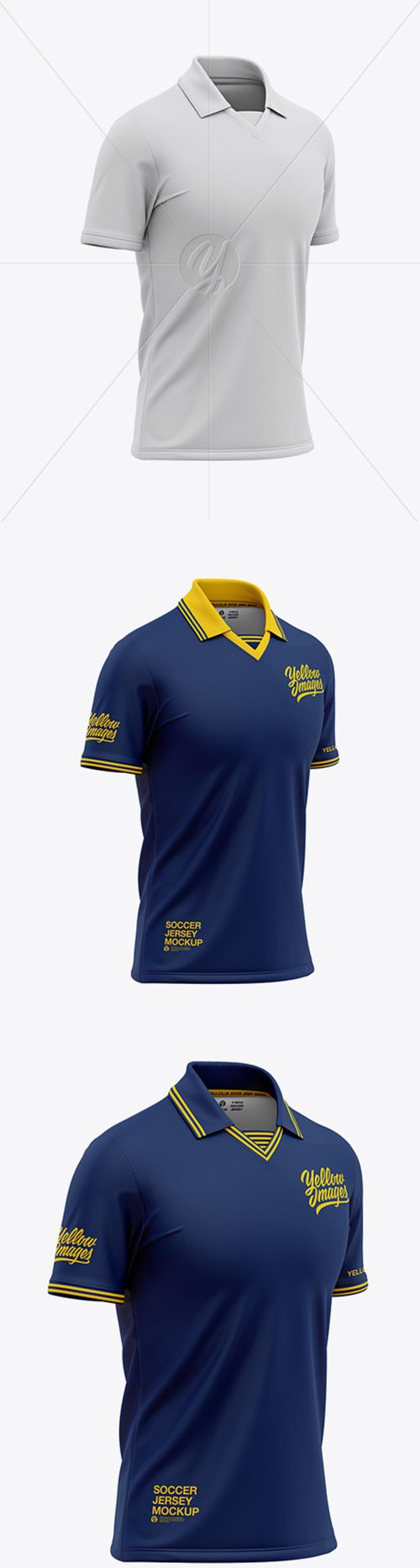 Mens Soccer /Cricket Jersey Mockup - Front Half Side View 47630