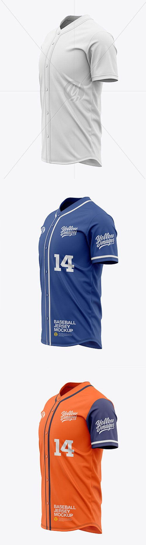 Mens Baseball Jersey Mockup - Side View 46238