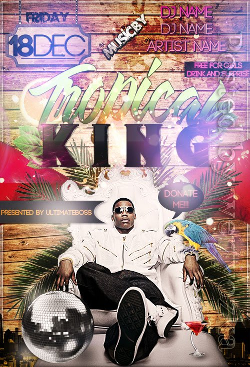 Tropical king - Premium flyer psd template