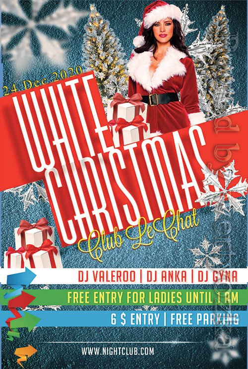 White Christmas - Premium flyer psd template
