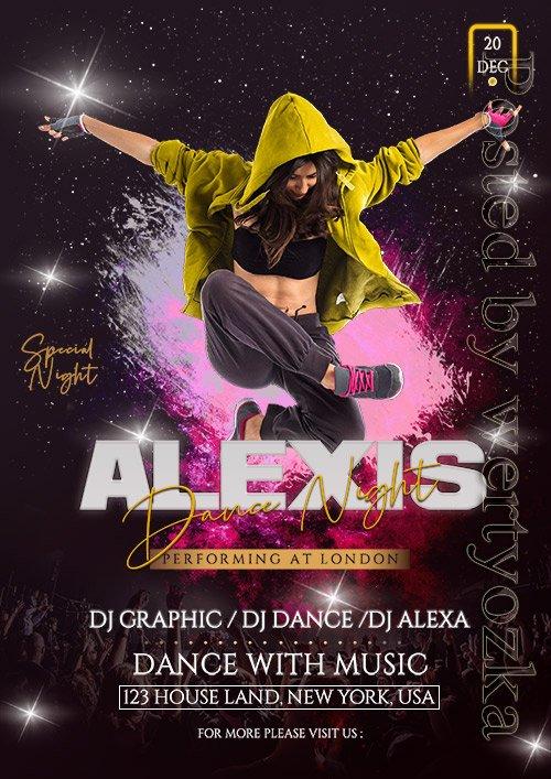 Alexis Dance Party - Premium flyer psd template