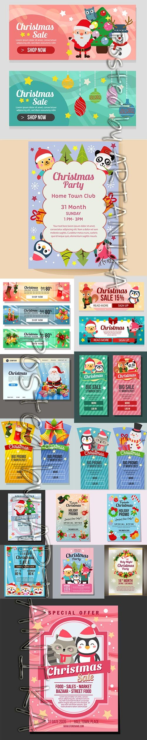 Christmas Sale Banner and Poster Template