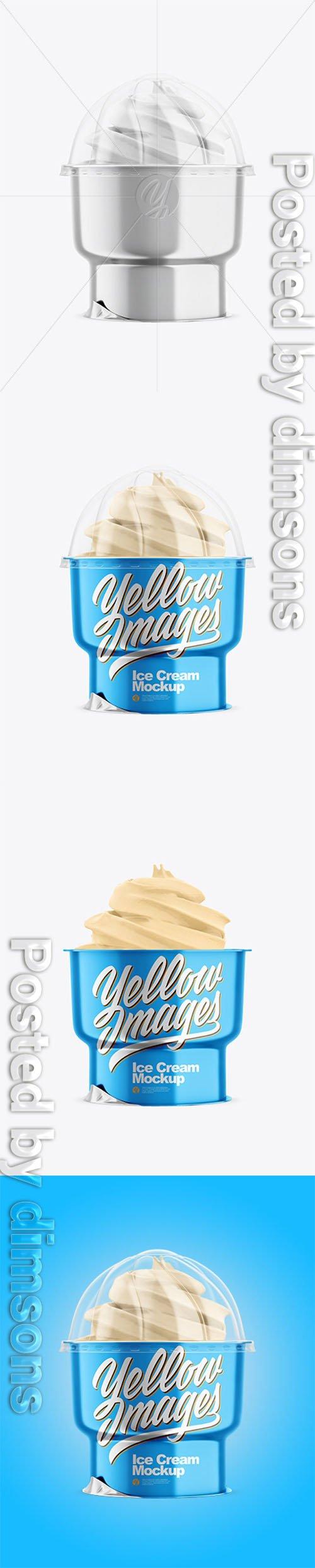 Metallic Ice Cream Cup Mockup 45340 TIF