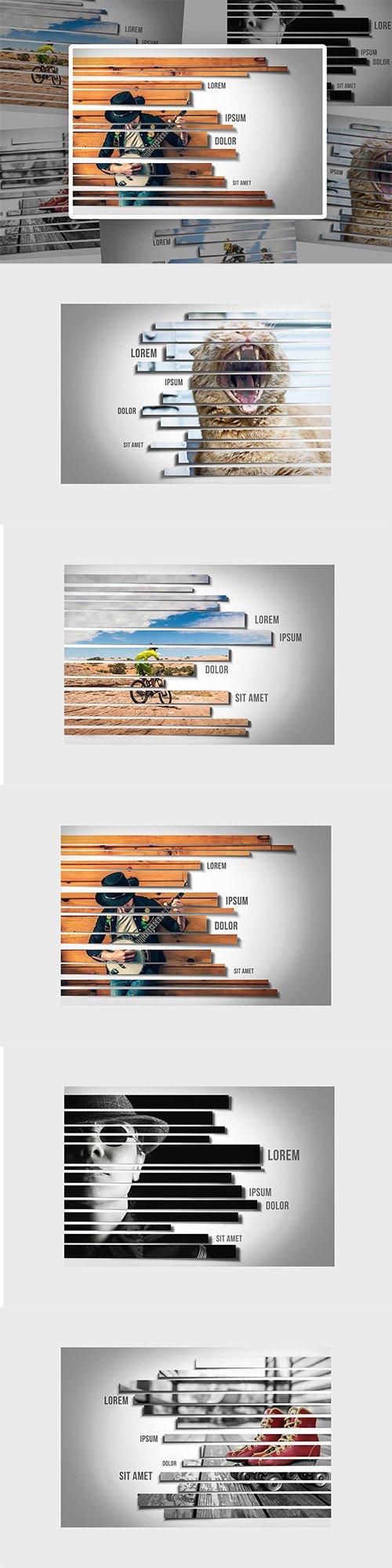 Stripes Photo Frame Template