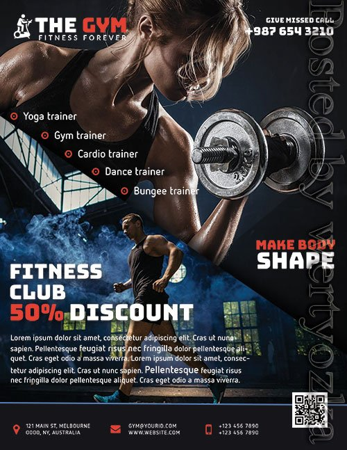 The Gym Fitness - Premium flyer psd template