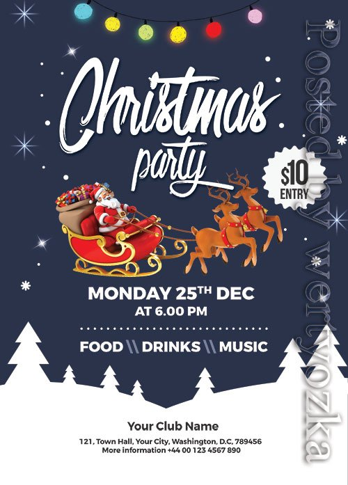 Christmas Party - Premium flyer psd template