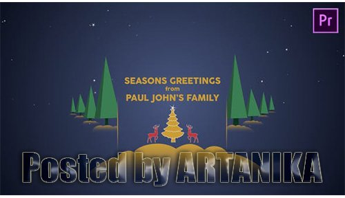 Parallax Christmas Greetings - Premiere Pro 25157782