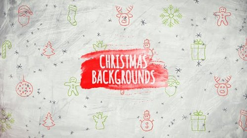 Christmas Backgrounds - Hand Drawn Icons 25093831