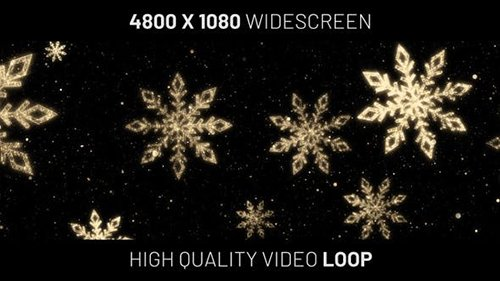 Christmas Snowflakes Gold Background Widescreen 25255188