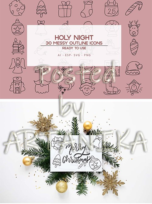 Holy Night liners icons