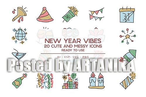 New Year vibes Icons