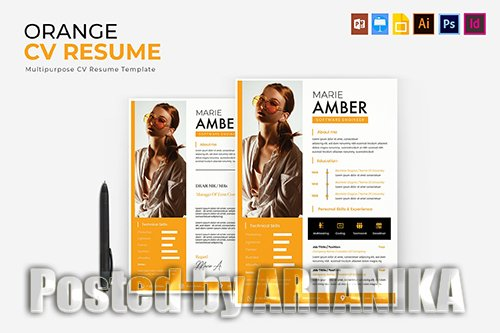Orange | CV & Resume Template