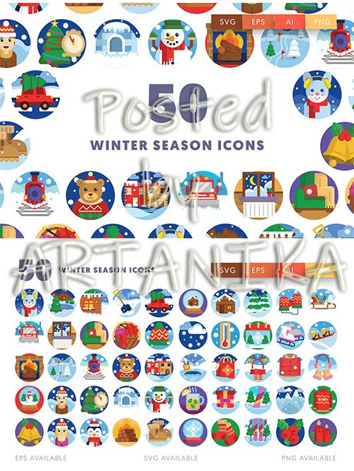 Winter Season Icons