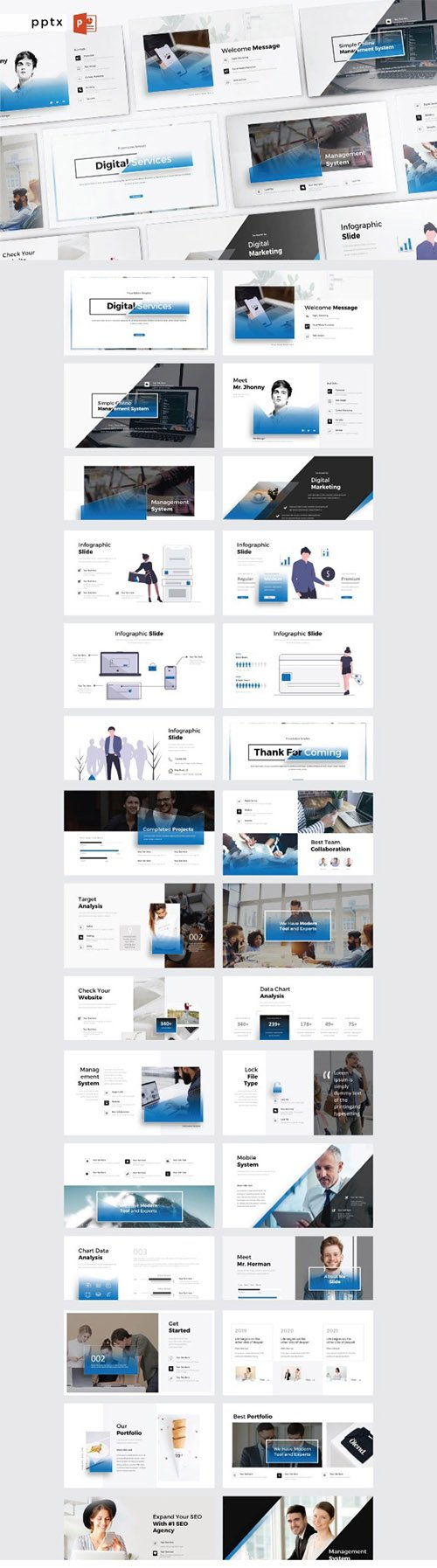 DIGITAL SERVICES - Powerpoint V359