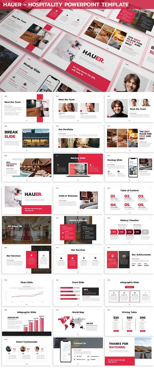 Hauer - Hospitality Powerpoint Template