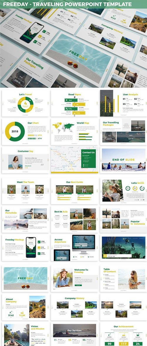 Freeday - Traveling Powerpoint Template